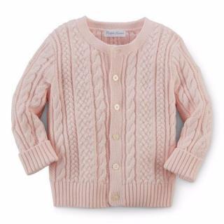 Ralph Lauren Baby Girl Pink Knitted Cardigan