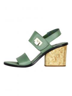 Balenciaga cork heeled sandals