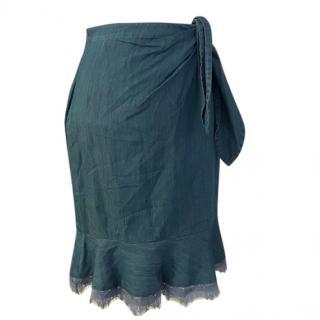 Diane Von Furstenberg denim wrap skirt
