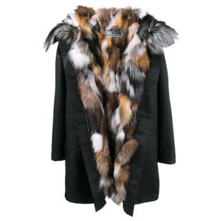Yves Salomon Army Parka Short model with Fox fur lining