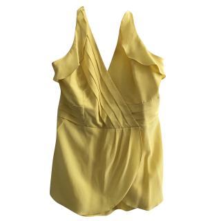 BCBG Max Azria Yellow Silk Halter Top