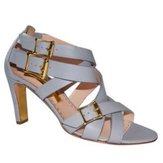 Rupert Sanderson Grey Soraya Strappy Leather Sandals