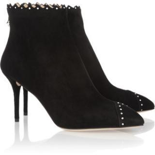 Charlotte Olympia Zara Crystal- Embellished Suede Ankle Boots