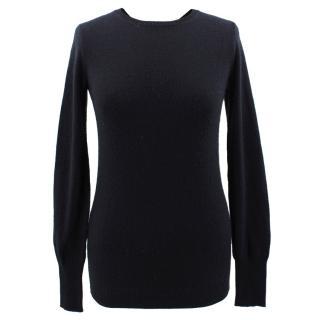 Burberry Prorsum black cashmere blend open back bow sweater