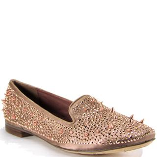 Sam Elderman Spiked Satin Flats