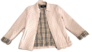 Burberry Quilted Jacket  Size 12 junior Nova Print.