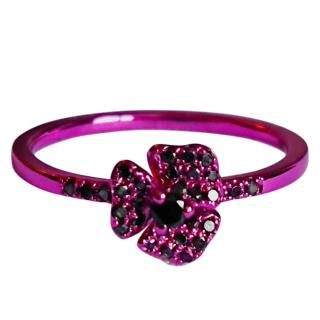 AS29 Pink Pave Flower Ring 18ct Gold RRP �726.00