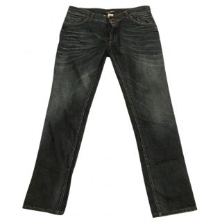 Dolce & Gabbana faded denim jeans