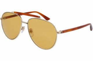 Gucci Gold & Tortoise Shell Sunglasses
