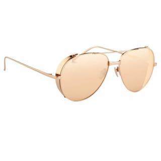 Linda Farrow Current Rose Gold Sunglasses