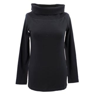 Nicholas Black Cotton Oversized Rollneck  Top