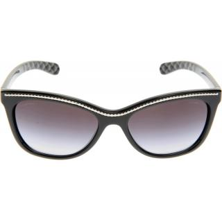 Chanel Black Sunglasses with Silver Edging