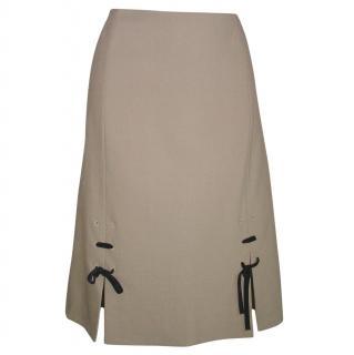 PRADA  beige wool skirt, size 42