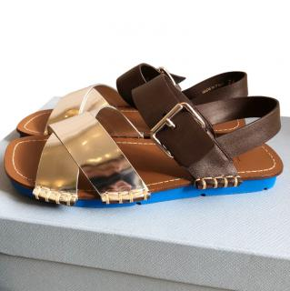 Prada Silver flat sandals