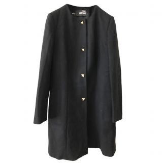 Love Moschino Soft Wool Black Long Coat