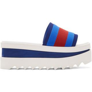 Stella McCartney blue/red & white wedge  sandals