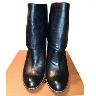 Baldinini black leather ankle boots