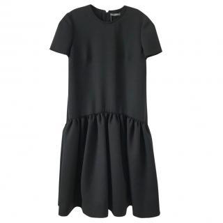 Alexander McQueen Dropped Waist wool blend scuba dress