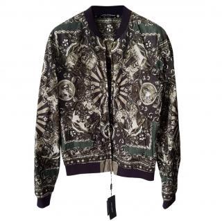 Dolce&Gabbana printed bomber  jacket