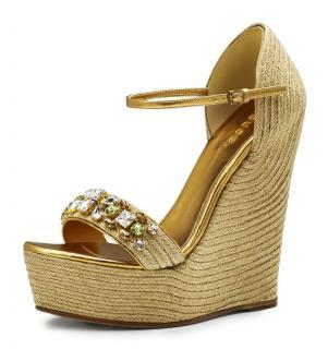 Gucci Caroline Crystal Espadrille Sandals