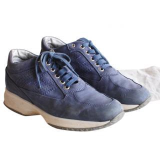 Hogan Blue Suede Sneakers