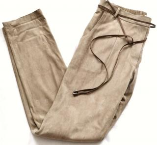 Brunello Cucinelli Suede slim-leg trousers