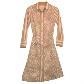 MARC JACOBS beige print dress, size 0 UNWORN