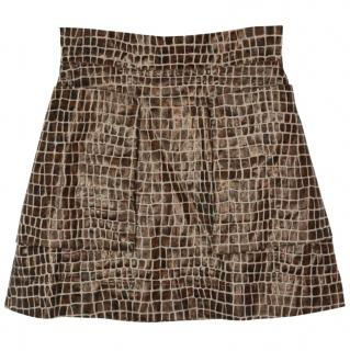Vivienne Westwood Anglomania crocodile tailoring A-line mini skirt