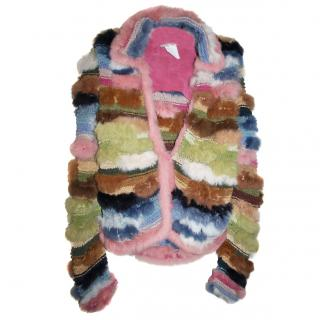 CARLOS MIELE Fur/Suede Knit cardigan