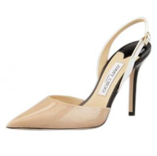 Jimmy Choo Volt patent leather sling back shoes