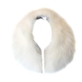 Harrods Of London white Fox fur collar