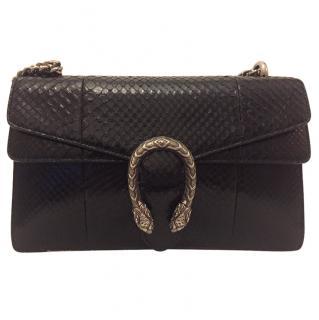Gucci Dionysus Black Python Shoulder Bag