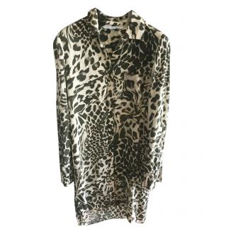 DVF abstract print shirt dress