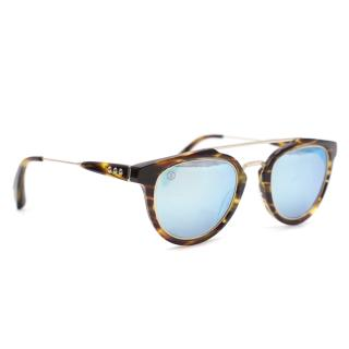Taylor Morris Blue Reflective Sunglasses