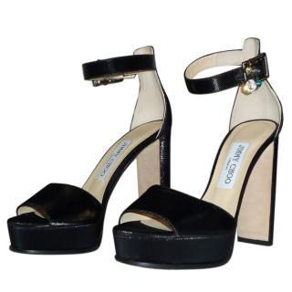 Jimmy Choo black ankle strap sandals