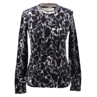 Balenciaga Marble-Printed Wool Sweater