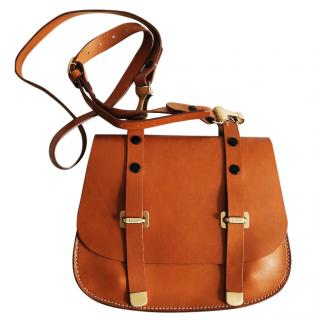 Bally tan leather Cross-body bag