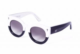 Valley Black & White coffin club Sunglasses
