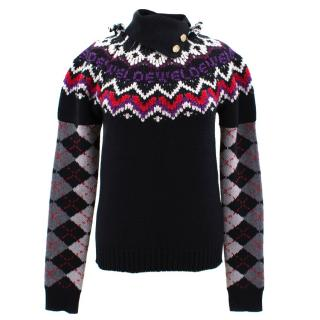 Loewe wool, silk and cashmere-blend turtleneck sweater