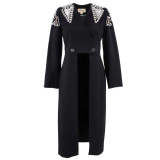 Temperley Empire Embroidered Tuxedo Coat