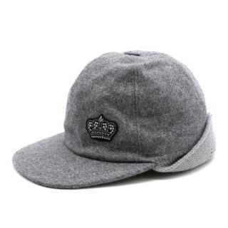 Dolce& Gabbana Grey Grey Herringbone Cap