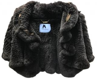 Blumarine Knitted Rabbit Fur Jacket