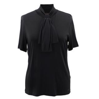 Escada Black Tie Jersey Top