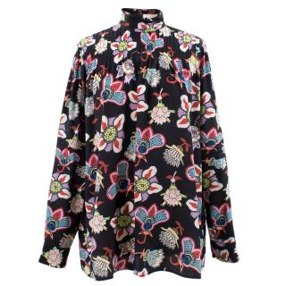 Valentino floral silk blouse