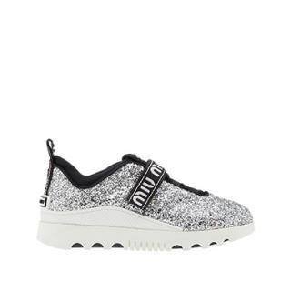 Miu Miu Glitter Logo Sneakers