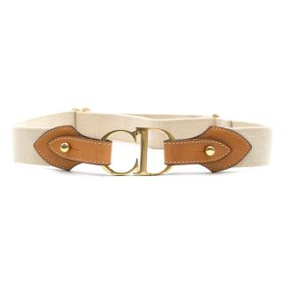 Christian Dior CD-buckle Logo Canvas Belt