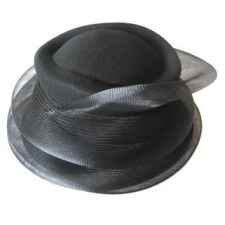 MaxMara black wool/net occasion hat