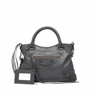 Balenciaga Town Crossbody Bag - Grey Leather