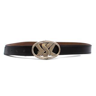 Yves Saint Laurent Brown Leather Belt