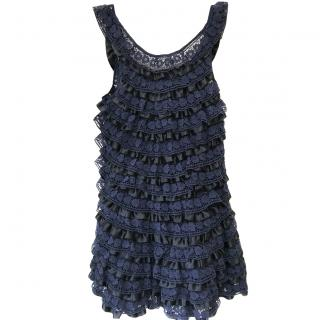 Marc By Marc Jacobs blue lace cocktail dress small